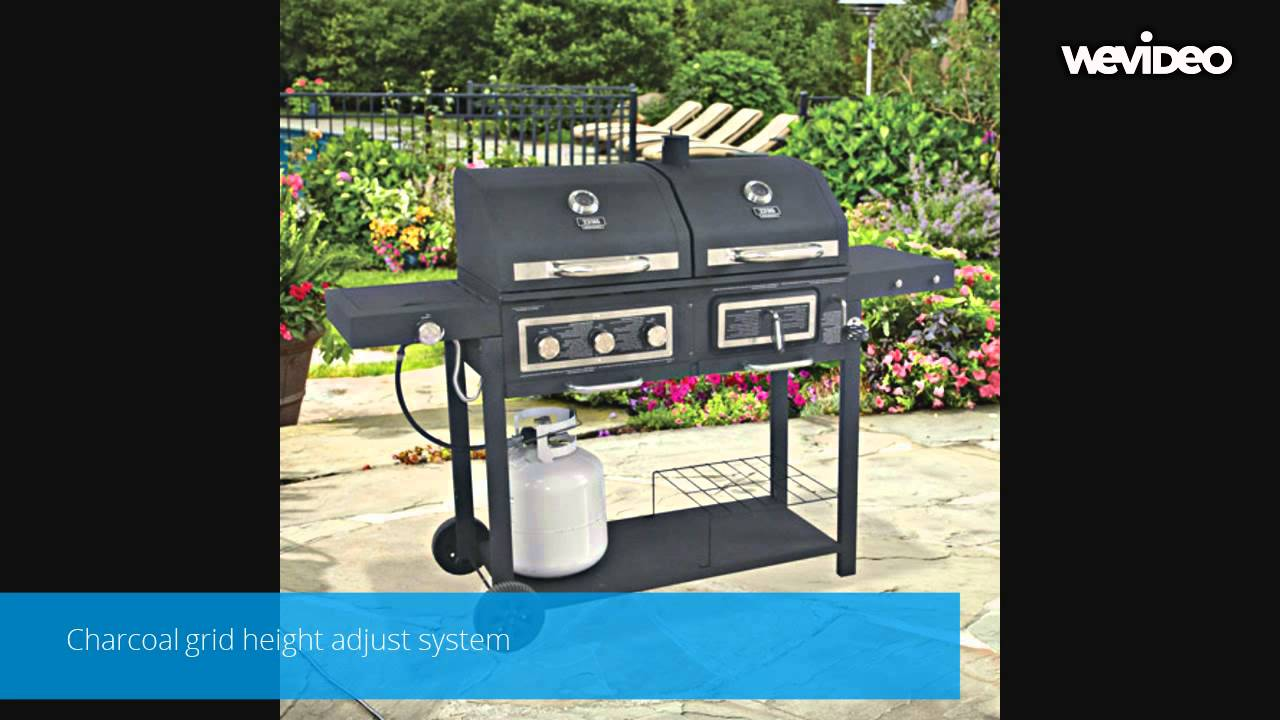 charcoal gas grill combo youtube