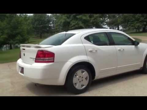 HD VIDEO 2010 DODGE AVENGER SXT WHITE FOR SALE SEE WWW SUNSETMOTORS COM