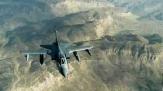 British Royal Air Force Tornado Refueled Over Afghanistan