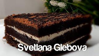 Очень сочный торт Три стакана готовлю сразу двойную порцию Как нежный брауни