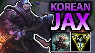 LITERALLY 1V9 ANY GAME WITH THIS BROKEN KOREAN JAX BUILD!! JAX TOP SEASON 7 - League of Legends