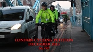 Andrew Gilligan London Cycling Petition acceptance speech 10th December 2013