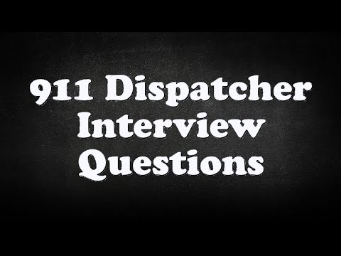 911 Dispatcher Interview Questions   YouTube  911 Dispatcher Interview Questions
