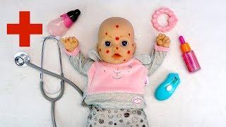 Как Мама Лечила Беби Анабель от Прыщей Куклы Пупсики Мультик Для девочек Игрушки для детей