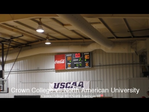USCAA Basketball • Crown College Vs North American University • December 1, 2018