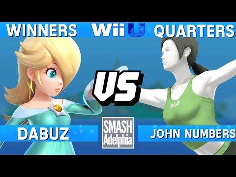 Smash 4 Wii U - Dabuz (Rosalina) vs John Numbers (Wii Fit Trainer) - SMASHADELPHIA 2017 Winners Q.
