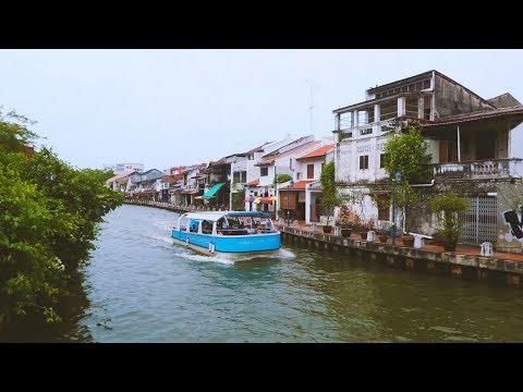 Melaka: River Walk in Malacca.  Malaysia 2018