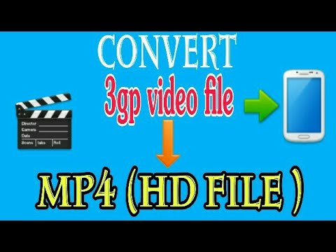 how to convert 3gp video file into mp4 hd video file in your android phone youtube. Black Bedroom Furniture Sets. Home Design Ideas