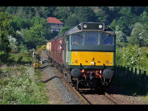 25278 (D7628) SYBILLA ENTERS RUSWARP WORKING THE 1T17 1710 WHITBY - PICKERING - 21st May 2018