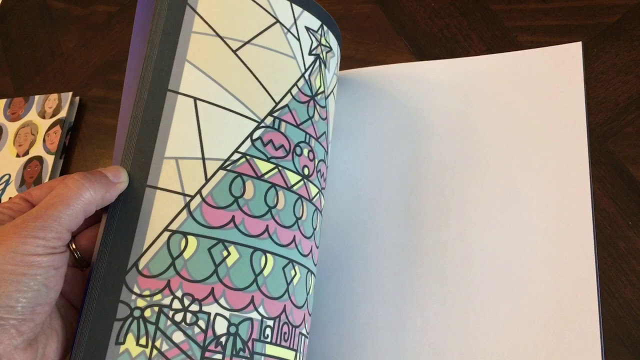 usborne christmas stained glass coloring