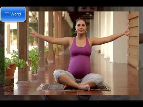 lara dutta yoga during pregnancy exercise  youtube