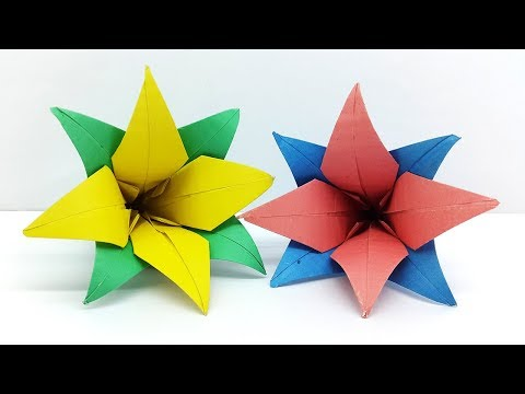 How to make Paper Flowers - Origami Flower Tutorial