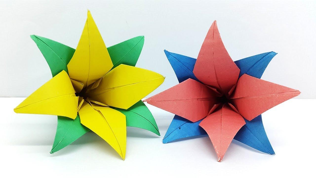 How to make paper flowers origami flower tutorial youtube how to make paper flowers origami flower tutorial mightylinksfo