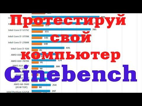 Cinebench Benchmark Синибенч бенчмарк Тестируем компьютер на производительность