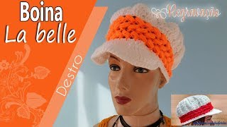 [Destro] Boina La Belle em crochê (Regravação) | BYA FERREIRA