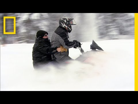 American Colony: Meet the Hutterites - Snowmobiling with Bertha