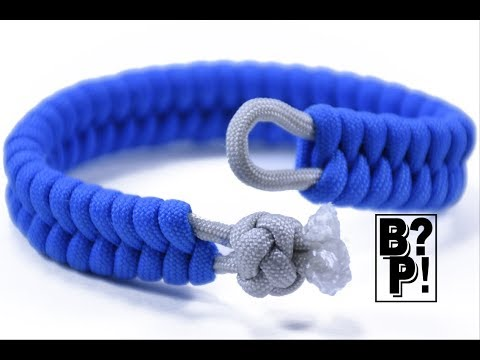Make Fishtail Paracord Bracelet with Ball and Loop Closure - BoredParacord.com
