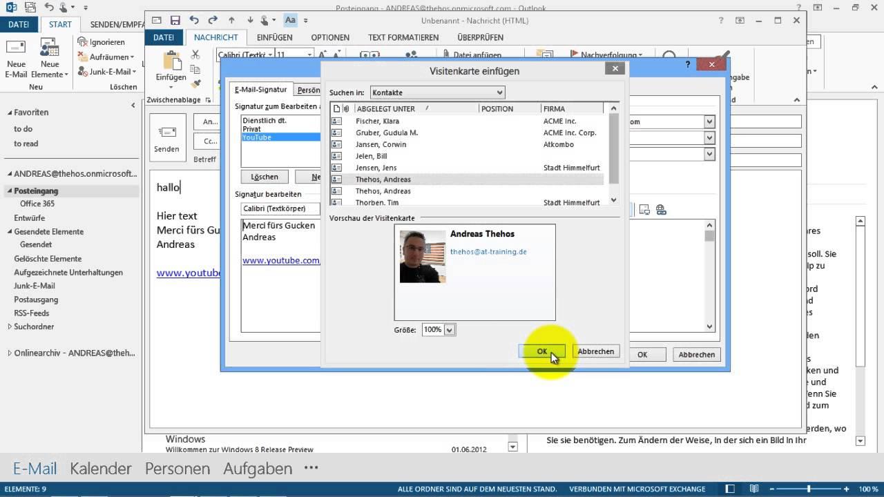 Outlook Signatur Erstellen Fehler Vermeiden