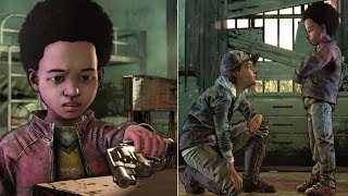 Clem Asks AJ to Shoot Her vs Runaway if She Gets Bit -All Choices- Walking Dead Final Season Ep3