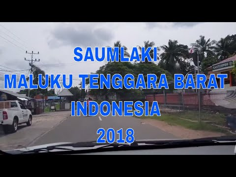Suasana Kota Saumlaki, Maluku Tenggara Barat, Indonesia, Maret 2018