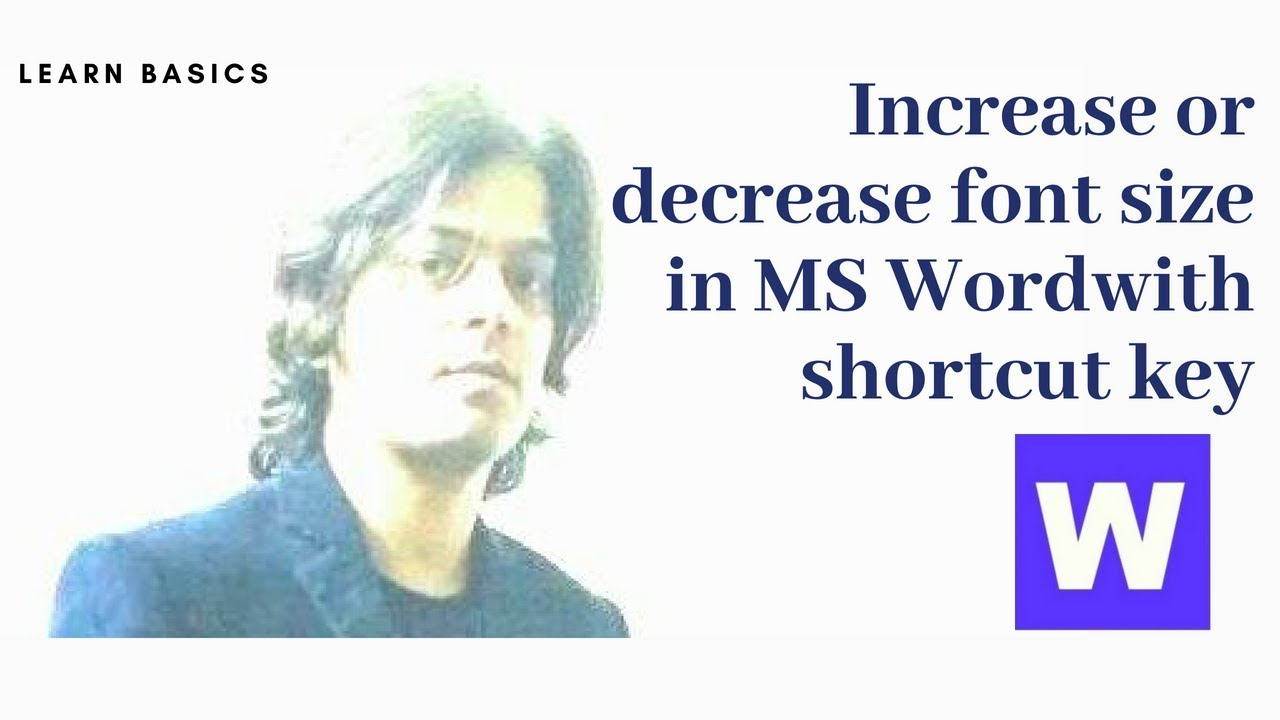 Increase or decrease font size in MS Word with shortcut key ...