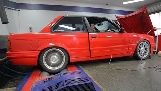 MYWIFE ~ BMW E30 turbo 4 dyno
