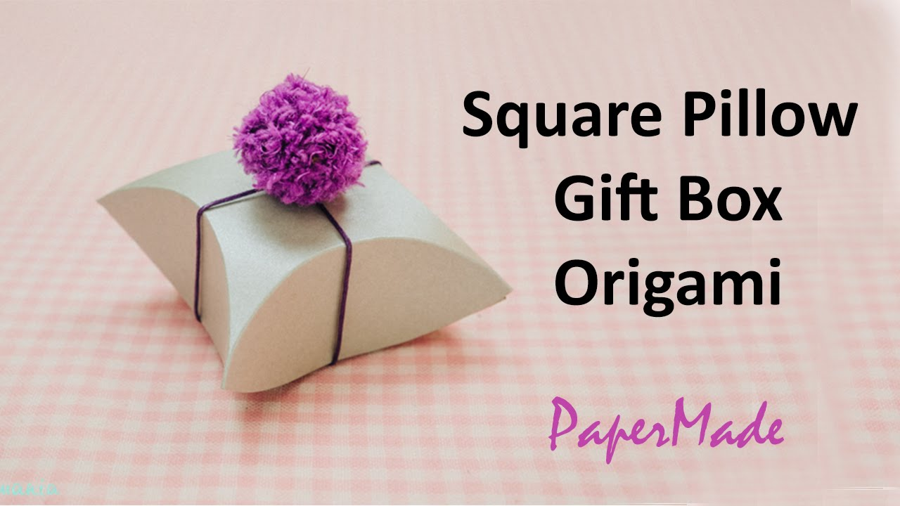 how to make square pillow present gift box with paper gift box origami diy papermade