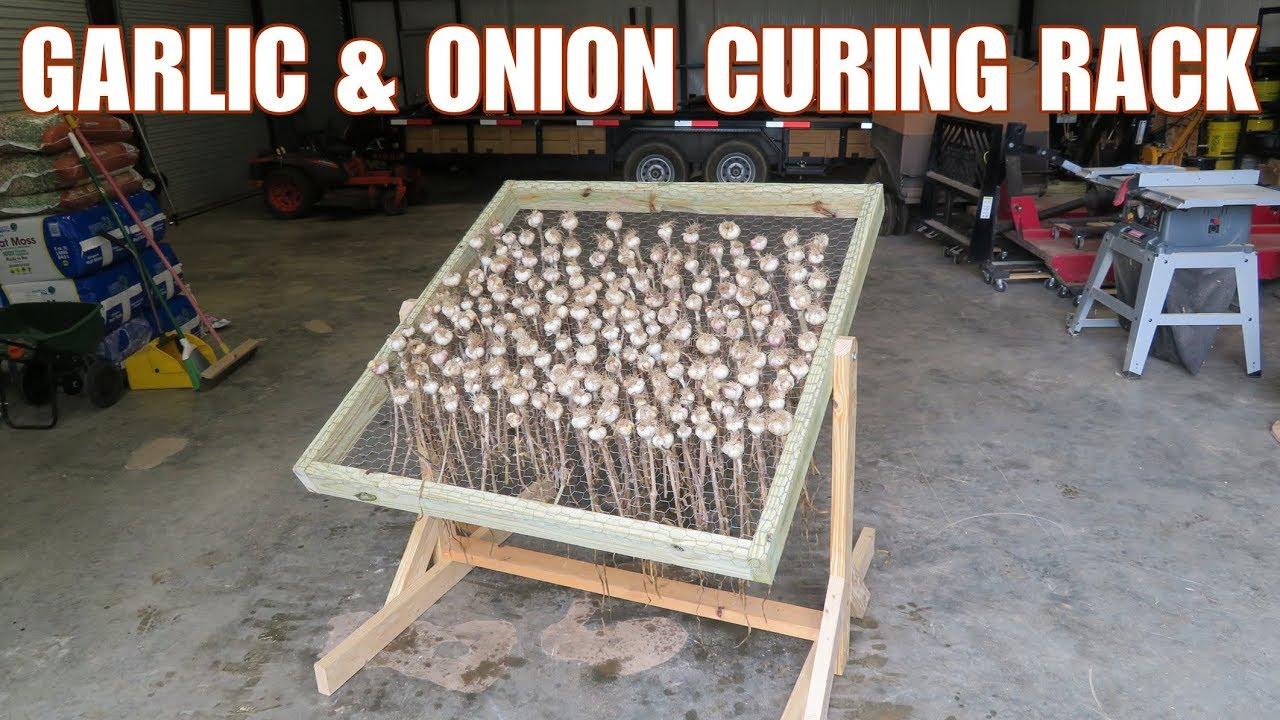 Diy Garlic And Onion Curing Drying Rack