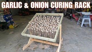 DIY garlic and onion curing/drying rack