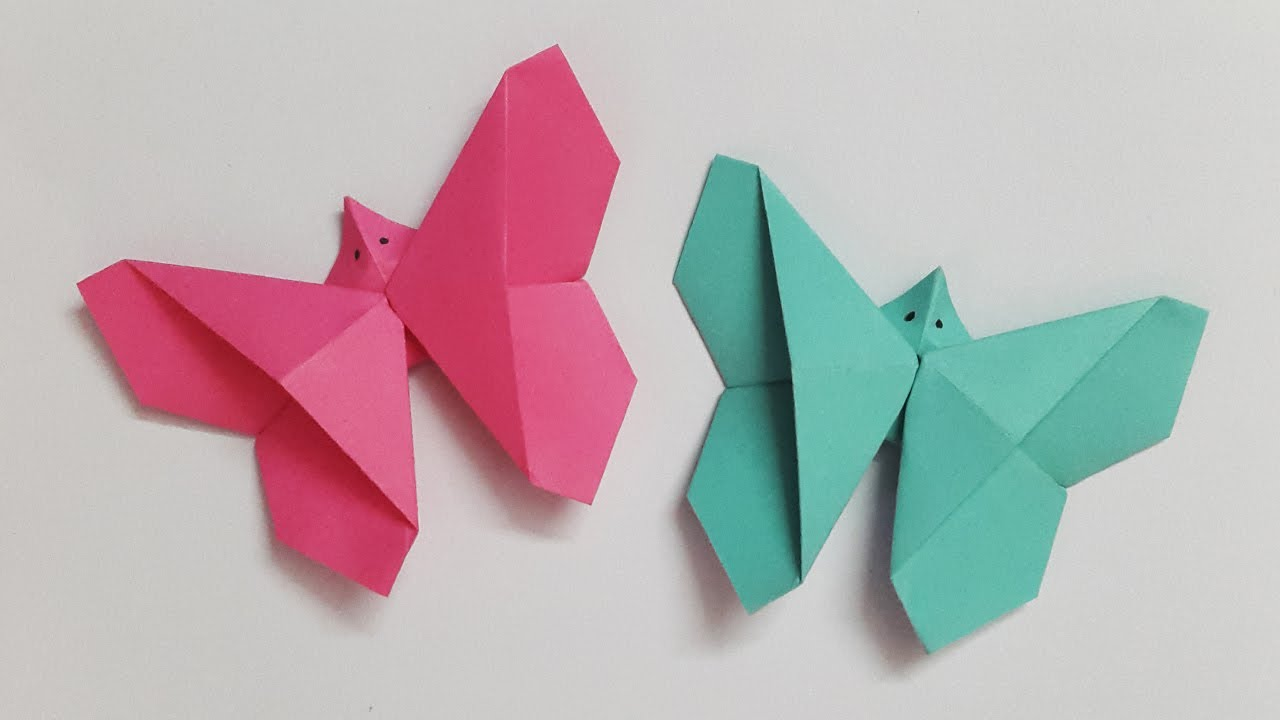 How To Make an Easy Paper Butterfly (in 3 MINUTES!) | Origami Butterfly