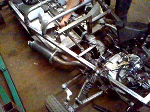kids lotus 7 build kit car start up