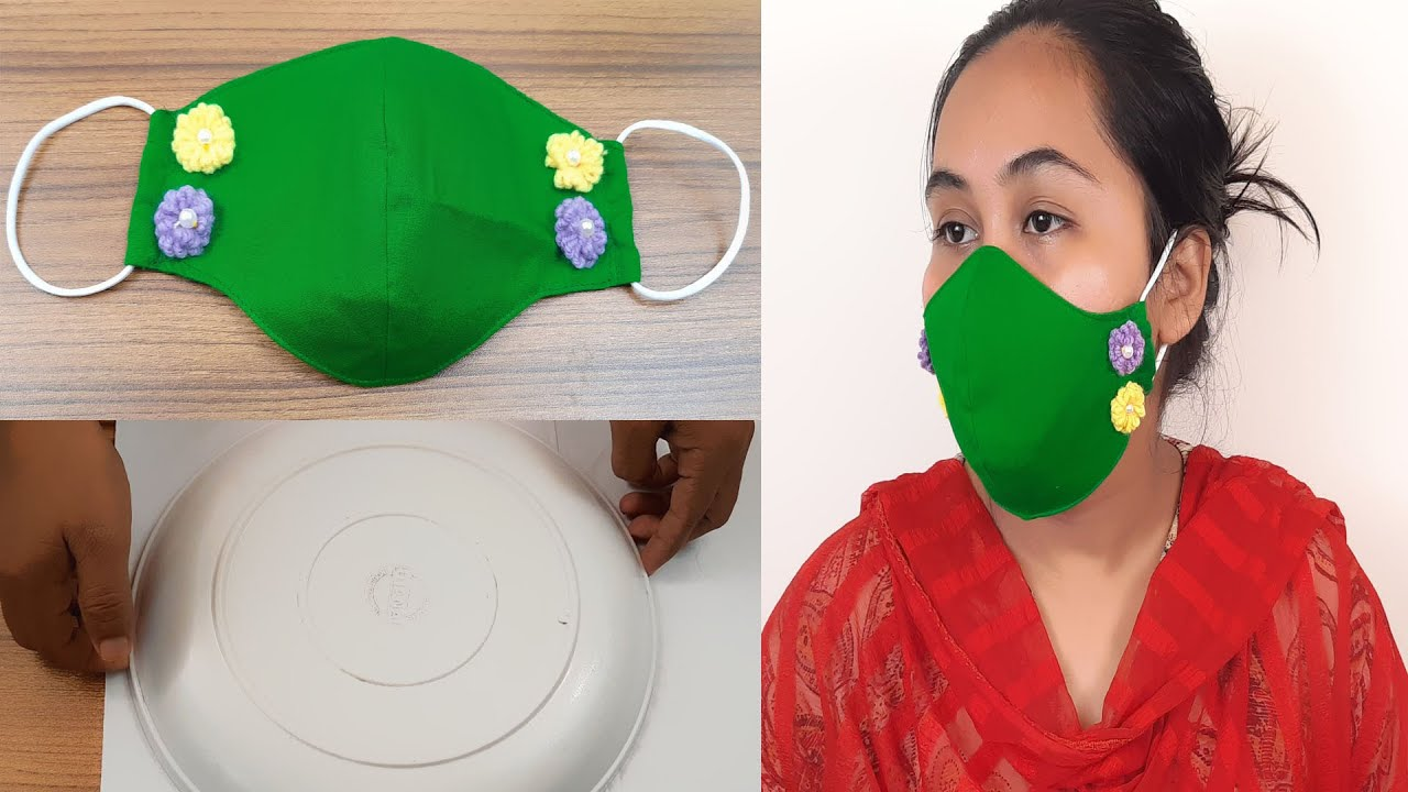 DIY !!! Face Mask Making With Cloth|Mask Making From Cloth | DIY Mask | Handmade Mask