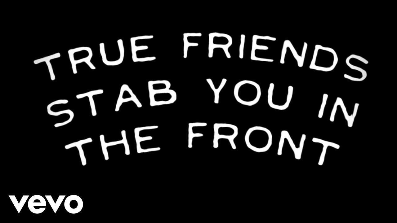 Bring Me The Horizon True Friends Official Lyric Video Youtube