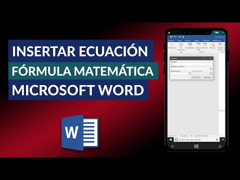 Cómo Insertar o Escribir Ecuaciones y Fórmulas Matemáticas en Word