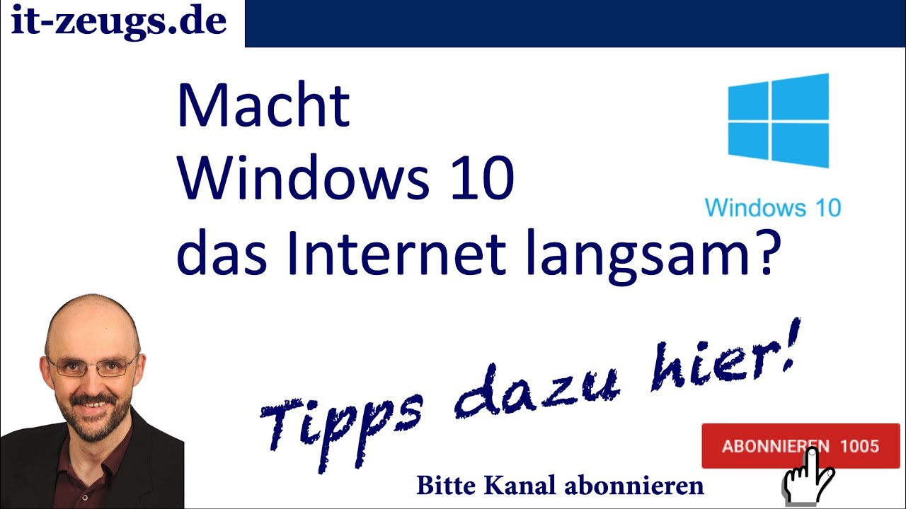 internet langsam windows 10