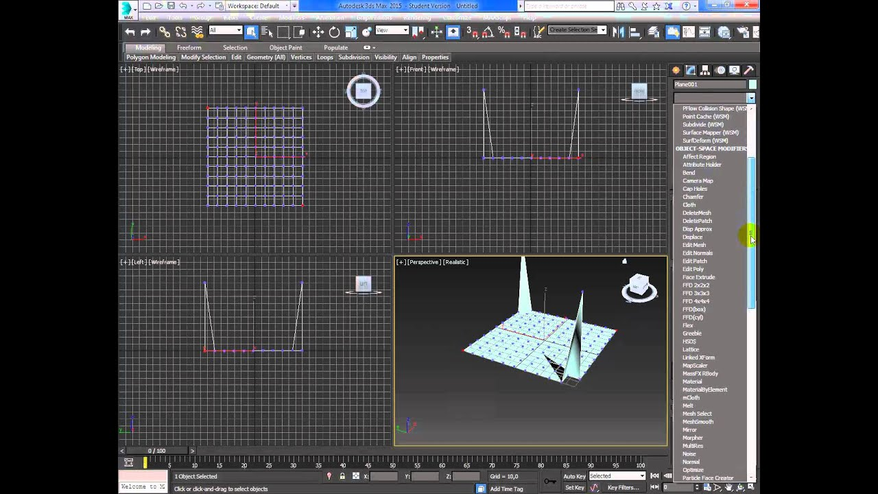 Videotutorial Autodesk 3dsmax - #77 Create a tense Structure Edit poly relax