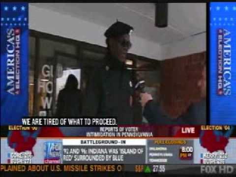 Black Panthers Outrage Intimidating VOTERS