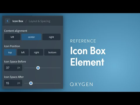 Oxygen's Icon Box Element - Icon, Heading, Text