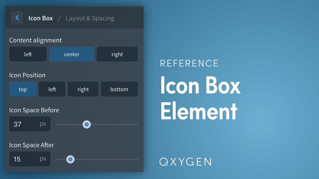 Icon Box - Oxygen