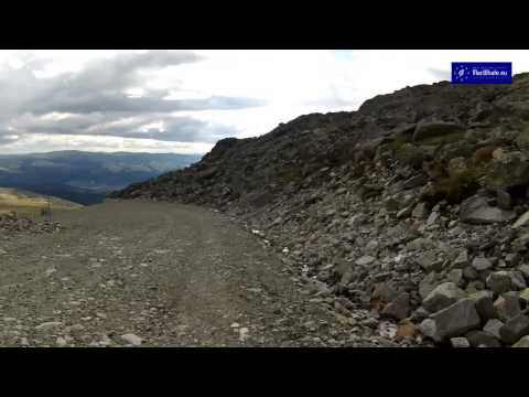 Mountain biking in Mount Tronfjell (Alvdal, Hedmark, Norway)