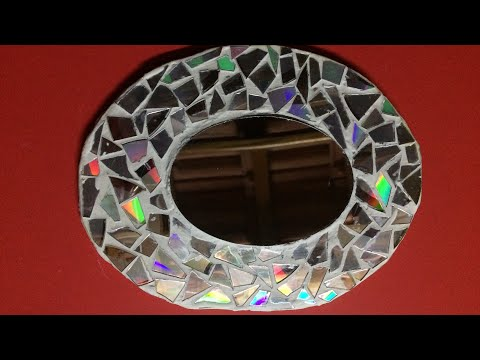 DlY: Wall Mirror decoration with CD's