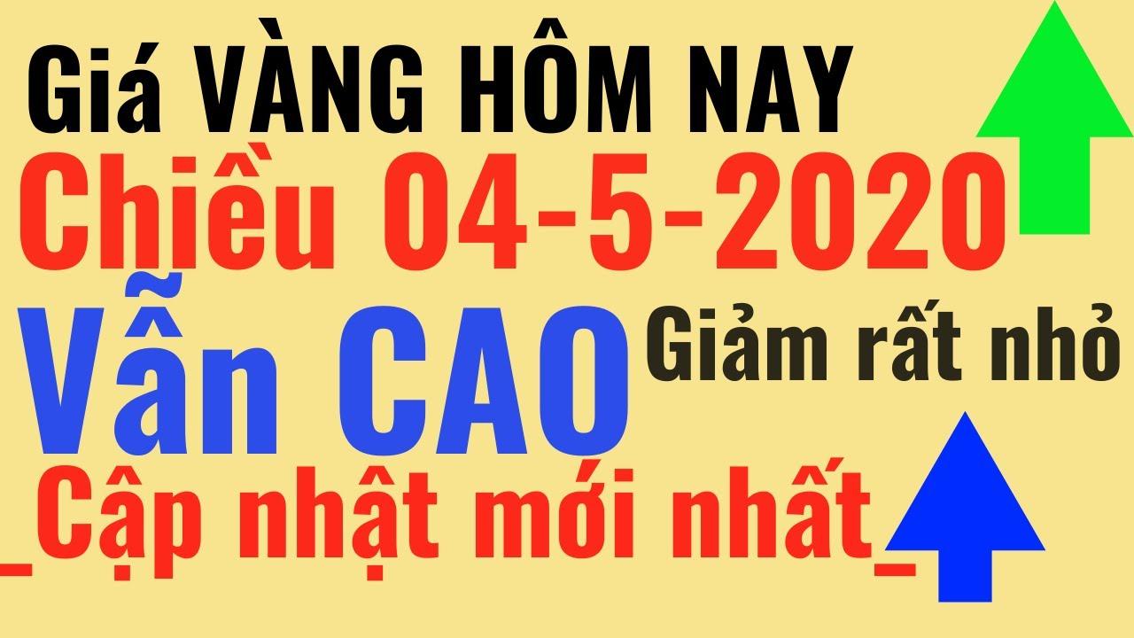 Giá VÀNG hôm nay 4/5 vẫn CAO-Giảm nhẹ Bảo Tín Minh Châu SJC Ý Mi Hồng 9999 24k PNJ online trực tuyến