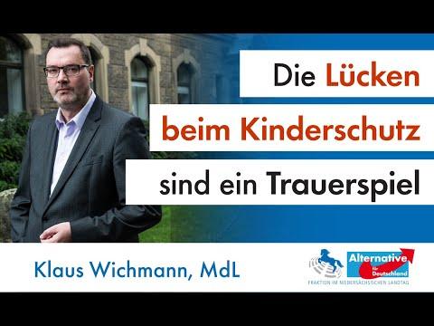 Die Lücken beim Kinderschutz sind ein Trauerspiel für unsere Gesellschaft! Klaus Wichmann, MdL (AfD)