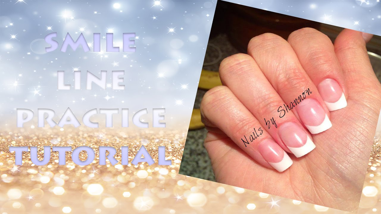 How To: French Acrylic Nails (Smile Line Practice) - YouTube