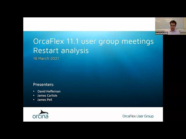 OrcaFlex 11.1 UGM - restart analysis