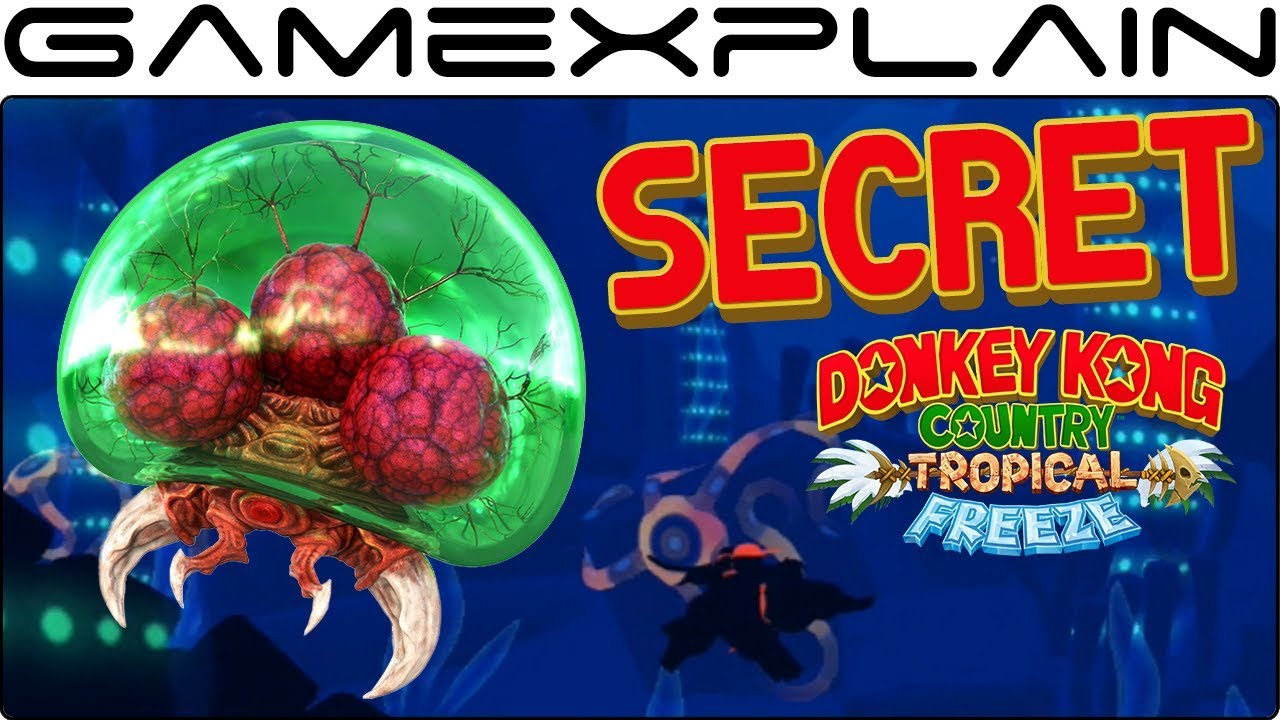 A Secret Metroid Has Been Hiding in DKC: Tropical Freeze the Last 4 Years! (Easter Egg)