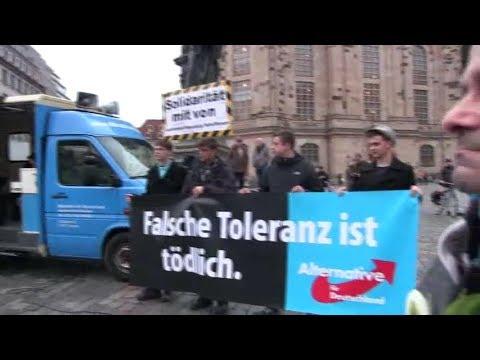 """06.01.2018 Protestmarsch der AfD in Dresden zur Migrantengewalt """"Falsche Toleranz ist tödlich"""""""