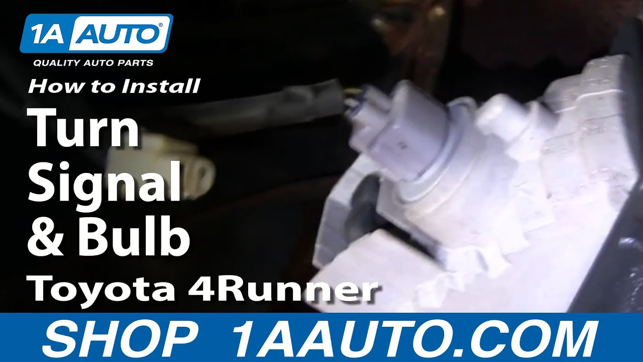 how to install replace turn signal and bulb toyota 4runner. Black Bedroom Furniture Sets. Home Design Ideas