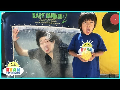 Thumbnail: DUNK TANK CHALLENGE EXTREME PARENT VS KID! Family Fun Activities with Ryan ToysReview