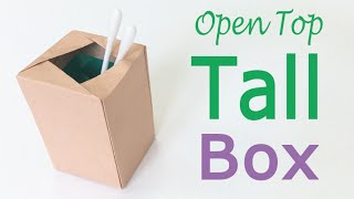 Origami Paper Open Top Tall Box ♪DIY♪ - Origami Kawaii〔#131〕